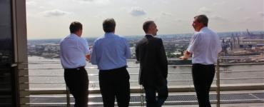 5-Sterne über den Dächern von Hamburg