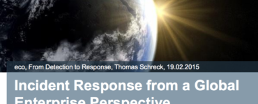Incident Response from a Global Enterprise Perspective
