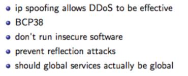 Using Blackholing against DDoS attacks