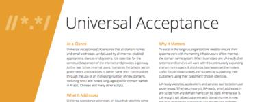 Universal Acceptance Fact Sheet