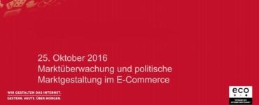 Präsentation: Einführung - Marktüberwachung und politische Marktgestaltung im E-Commerce