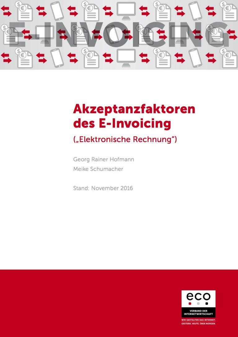 Studie: Akzeptanzfaktoren des E-Invoicing