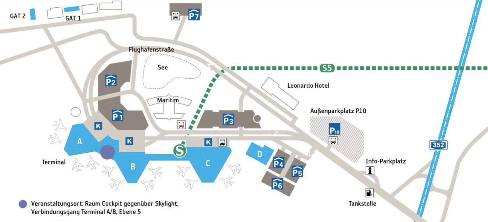 Ankunftsplan Flughafen Hannover