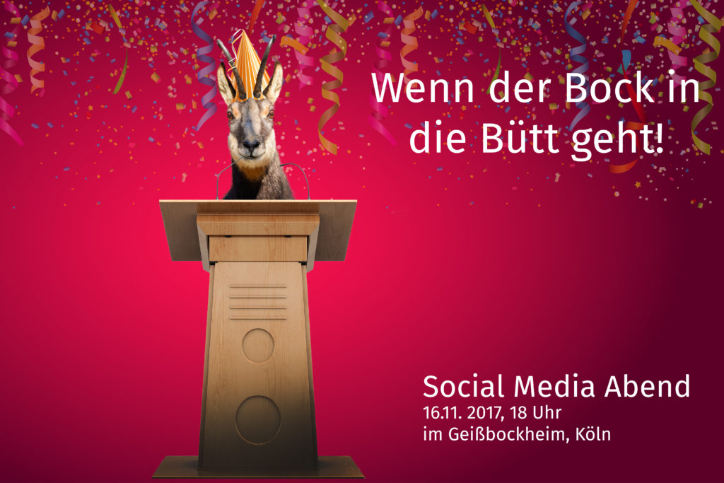 Vereine und soziale Medien – Wenn der Bock in die Bütt geht
