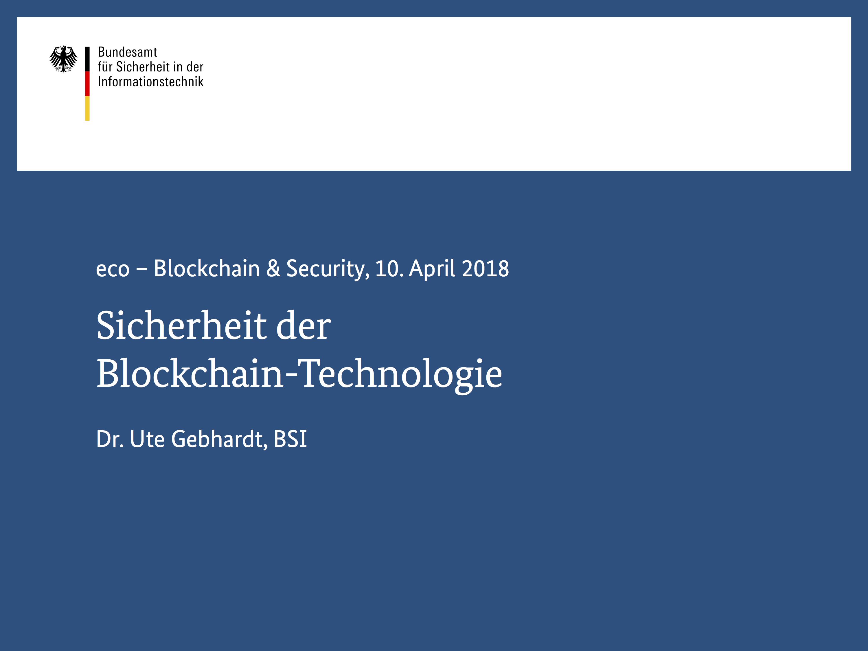 Präsentation: Sicherheit der Blockchain-Technologie