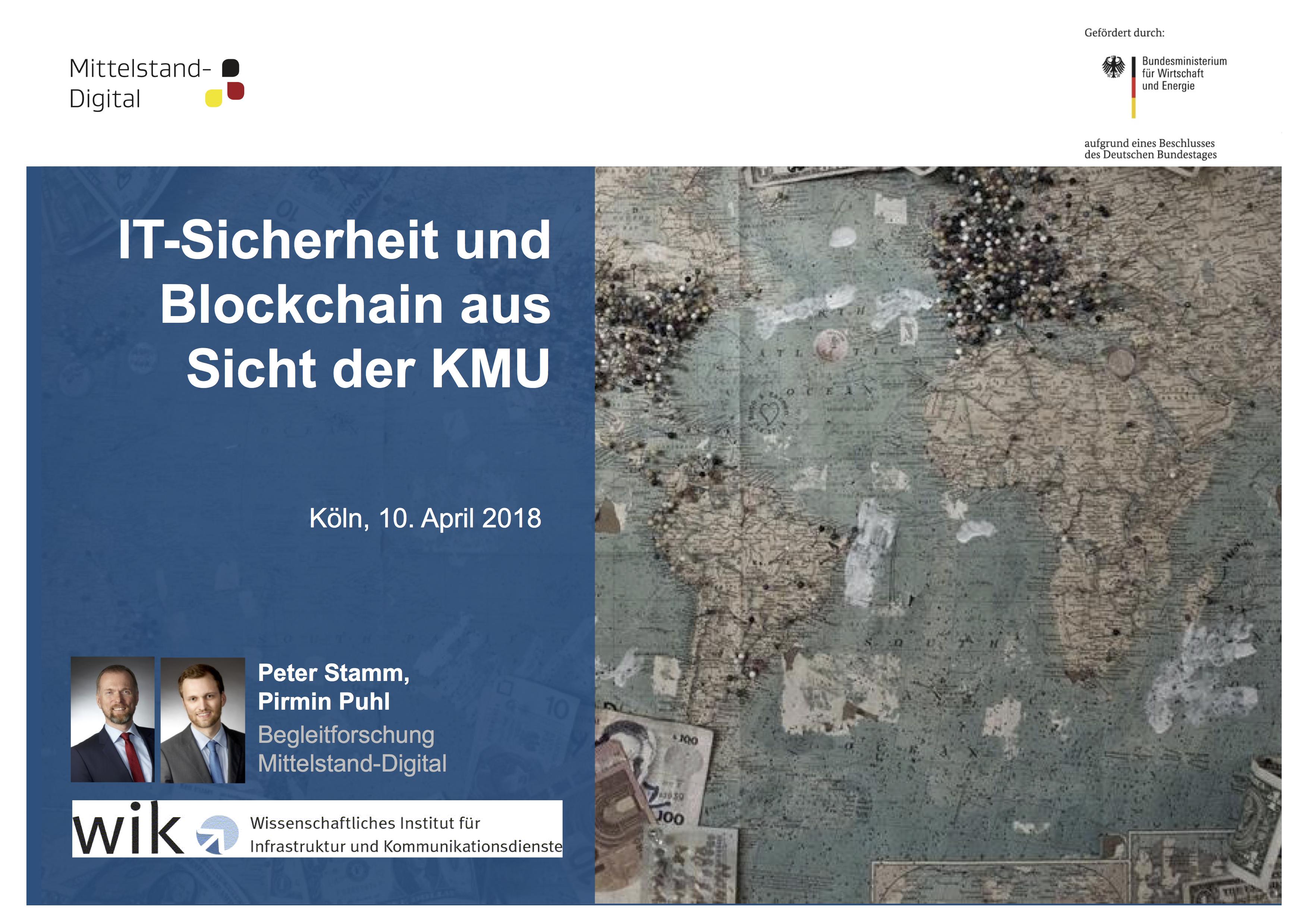 Präsentation: IT-Sicherheit und Blockchain aus Sicht der KMU