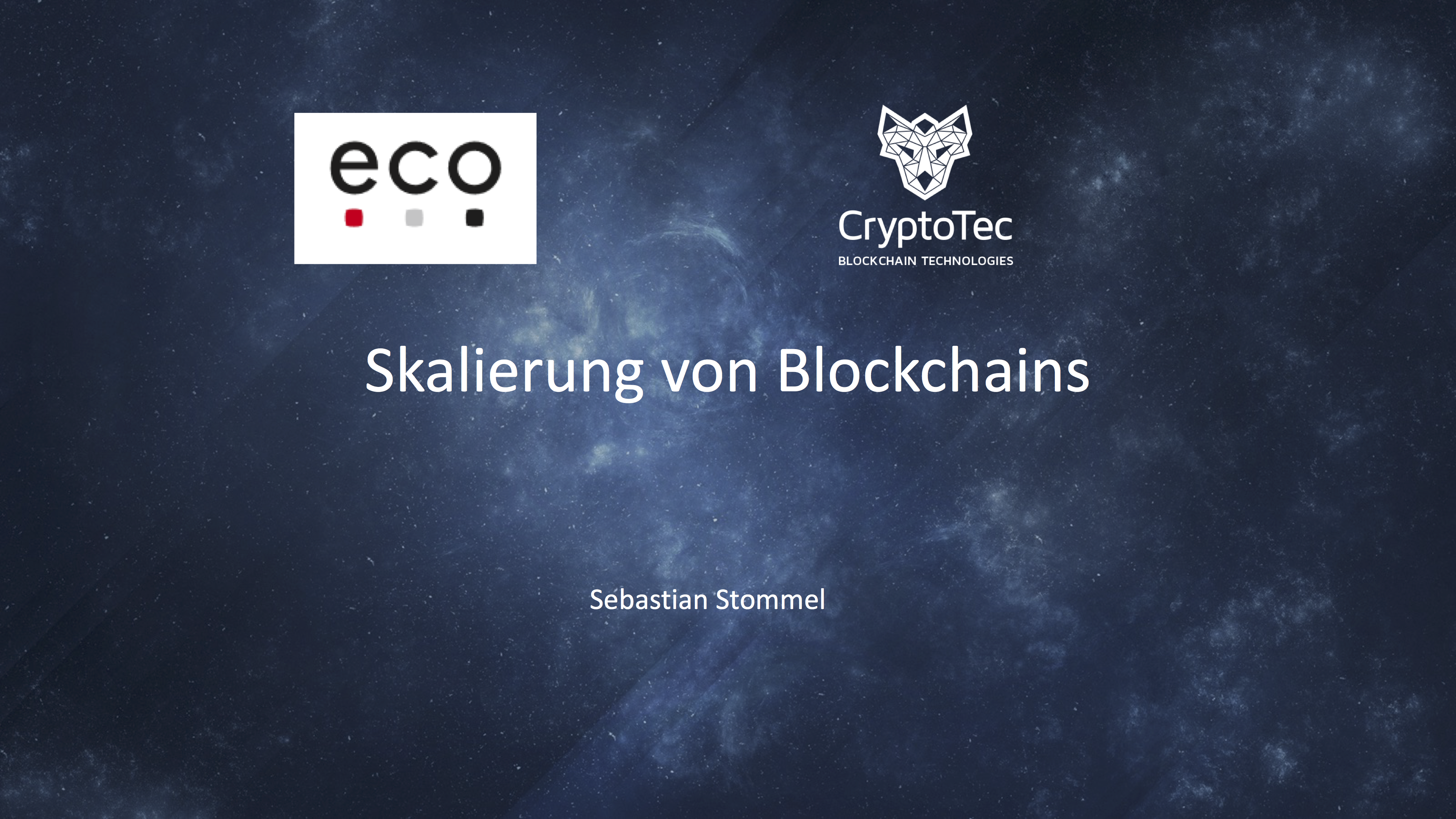 Präsentation: Skalierung von Blockchains