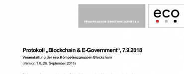 Protokoll: Blockchain & E-Government