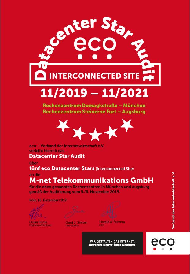 RZ Domagkstraße + RZ Steinerne Furt – M-net Telekommunikations GmbH 2
