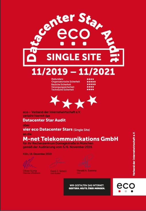 RZ Domagkstraße –  M-net Telekommunikations GmbH, München 1