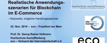 Präsentation: Realistische Anwendungsszenarien für Blockchain im E-Commerce