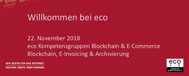 Präsentation: Blockchain, E-Invoicing & Archivierung