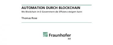 Präsentation: Automation durch Blockchain