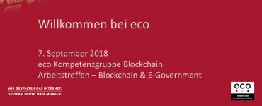 Präsentation: Blockchain & E-Government – Begrüßung