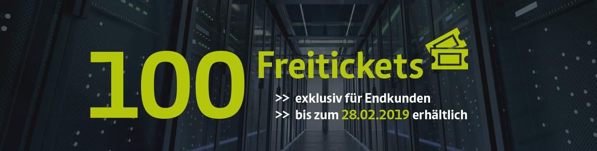 Jubiläumsaktion zur 10. future thinking: 100 Freitickets für Endkunden