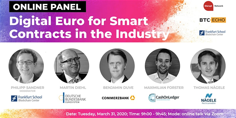 "Online Panel: ""Digital Euro for Smart Contracts in the Industry"""