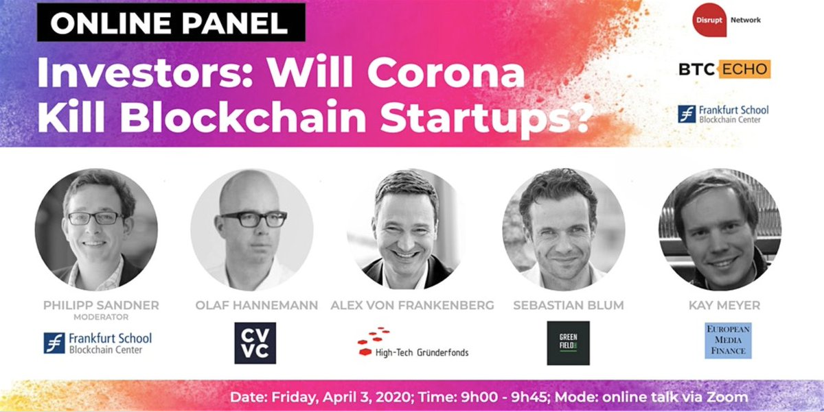 "Online Panel: ""Will Corona Kill Blockchain Startups?"" 2"
