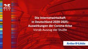 eco Studie zeigt: Corona-Krise trifft auch Internetwirtschaft in Deutschland - langfristig überwiegen positive Effekte