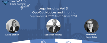 Legal Insights Vol. 3 - Opt-Out Notices and Imprint