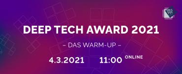 Warm-Up Deep Tech Award 2021