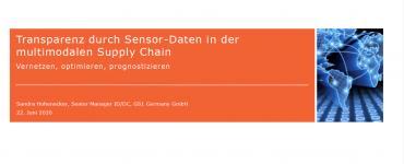 Transparenz durch Sensor Daten in der multimodalen Supply Chain